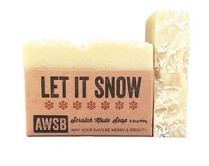 let it snow holiday soap natural,organic,soap,snow,holiday,mint,let it snow,handmade,peppermint,spearmint,coconut