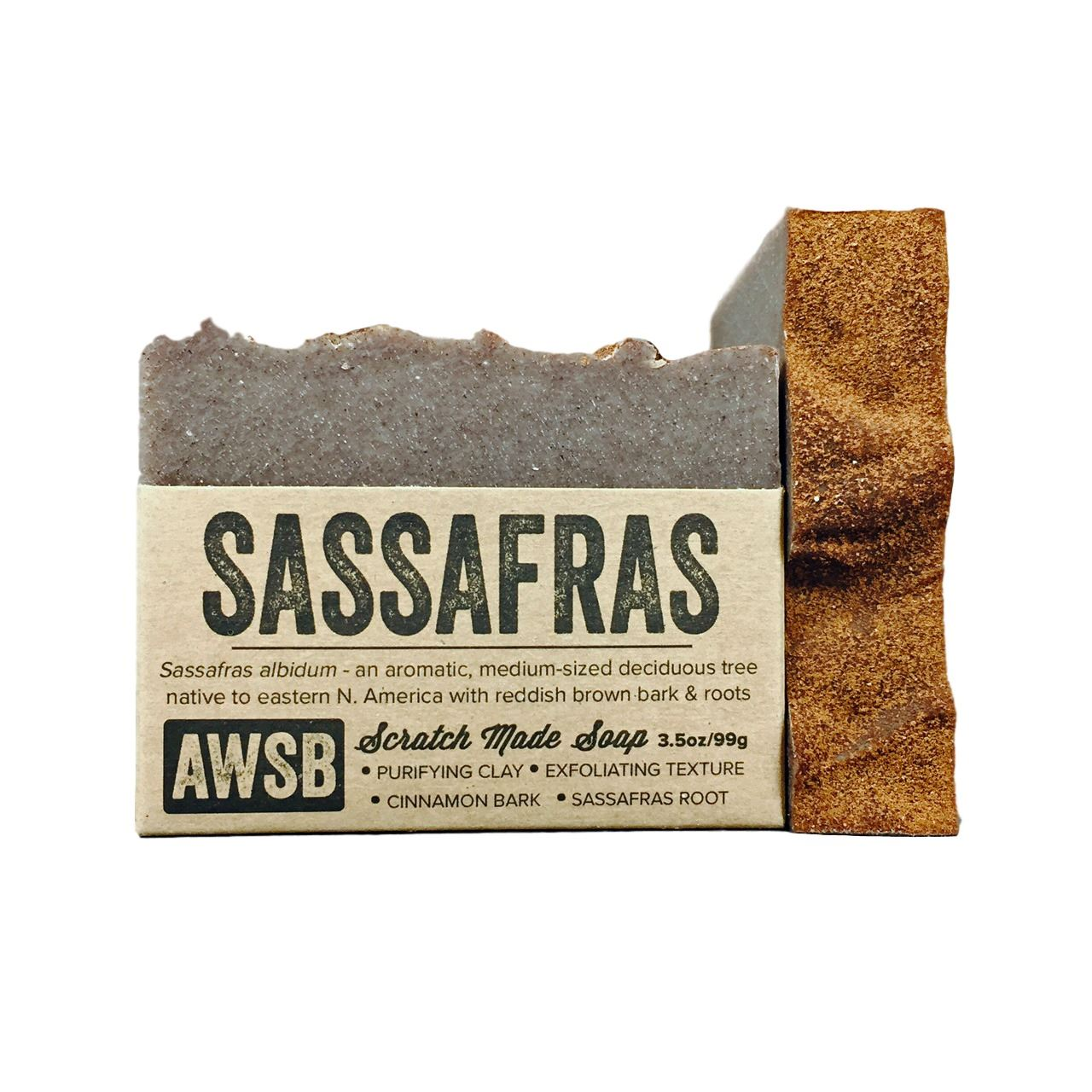 sassafras soap sassafras,cinnamon,spice,soap,natural,handmade,organic,brown,exfoliating,essential oils,spicy,cinnamon bark,root,vegetable oils