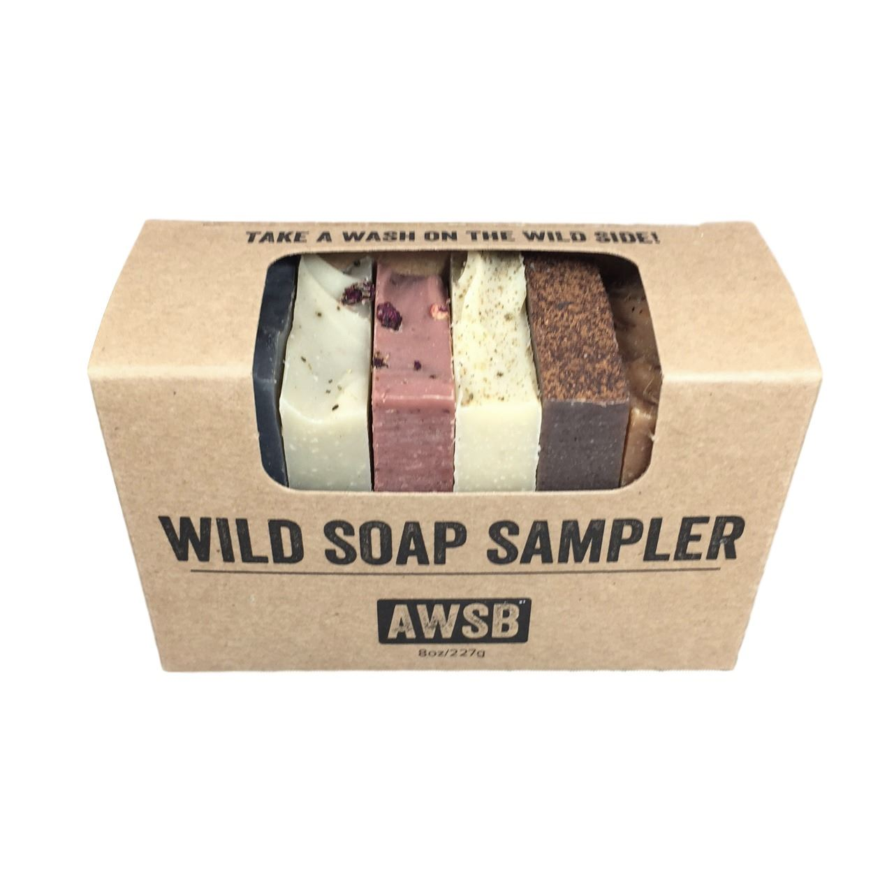 wild soap sampler wild,soap,sampler,soap sampler,gift,gift set,natural,handmade,organic,travel soaps,guest soaps