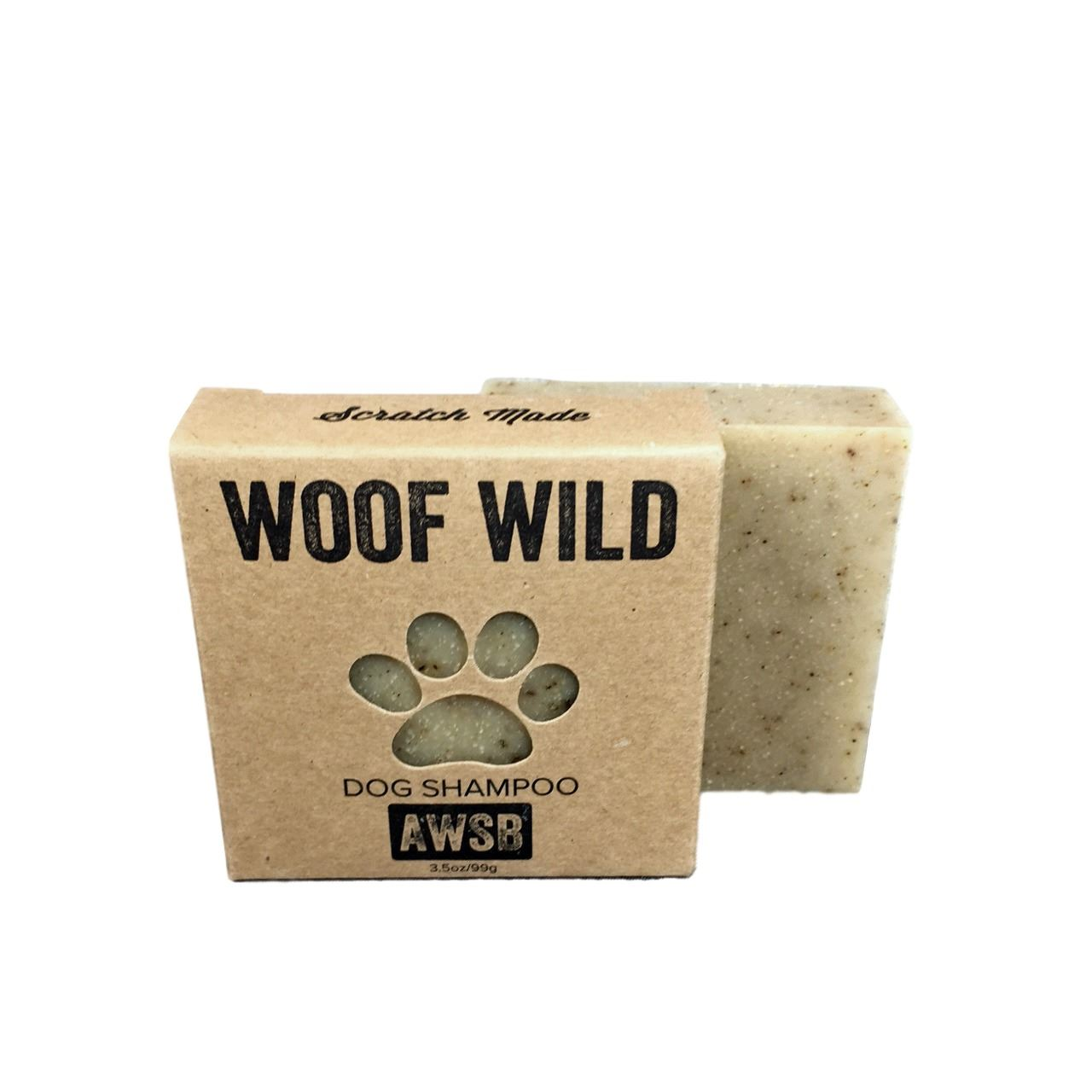 woof wild dog shampoo woof wild,dog,natural,organic,handmade,dog shampoo,shampoo bar,dog soap,aloe,oats,oatmeal,bugs,fleas,ticks,bentonite clay,clay