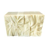 6 real castile organic olive oil bar soaps, naked, no box