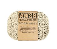 nest soap dish soap saver, beige colored, labeled