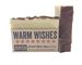 warm wishes handmade holiday bar soap with cinnamon, boxed