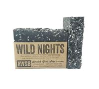 wild nights handmade organic soap with charcoal