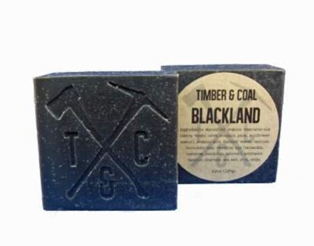 blackland natural organic bar soap, labeled