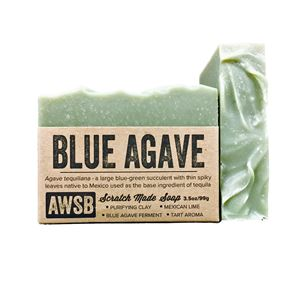 blue agave handmade organic bar soap with lime, boxed