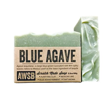 blue agave handmade organic bar soap with lime