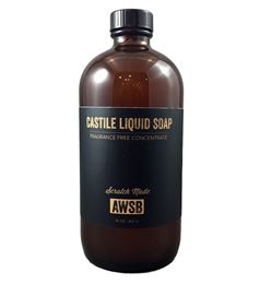 fragrance free castile liquid soap concentrate