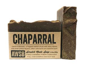 chaparral (creosote bush) natural shampoo & body bar soap, boxed