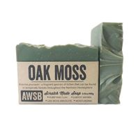 natural handmade organic oak moss bar soap, boxed