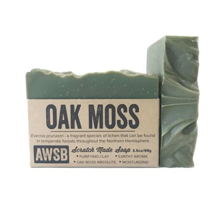 natural handmade organic oak moss soap