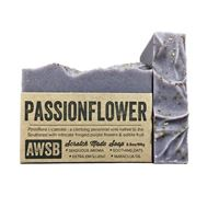 passionflower handmade organic bar soap with ylang ylang, boxed