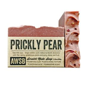 prickly pear cactus handmade organic bar soap, boxed