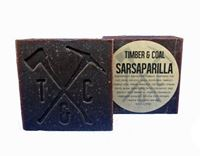 sarsaparilla natural organic bar soap for men, labeled