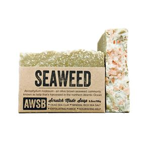 seaweed handmade organic bar soap with kelp and sea clay, boxed