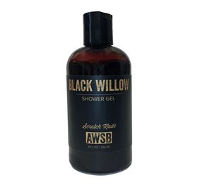 black willow organic shower gel with charcoal