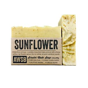 sunflower organic handmade bar soap, boxed