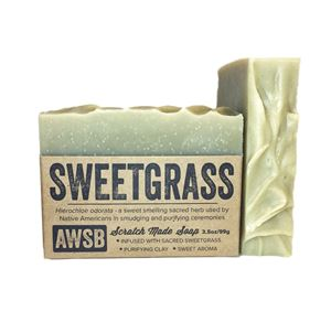sweetgrass natural bar soap with bentonite clay