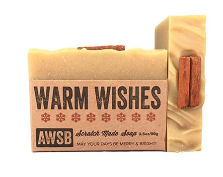 warm wishes natural bar soap with cinnamon