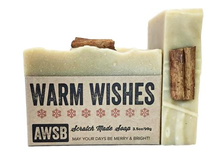 warm wishes handmade holiday soap