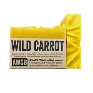 wild carrot soap carrot,queen annes lace,wild,soap,complexion,moisturizing,exfoliating,shea butter,goats milk,goat milk,anti-aging,essential oils,natural,handmade,organic,fennel,facial,face,carrot seed
