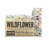 wildflower colorful natural bar soap with rose geranium, boxed