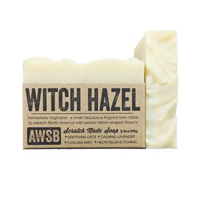 witch hazel natural organic bar soap, boxed