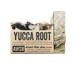 yucca root natural shampoo & body bar soap with tea tree, boxed